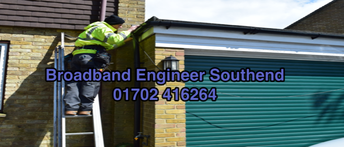 Southend broadband engineer at work