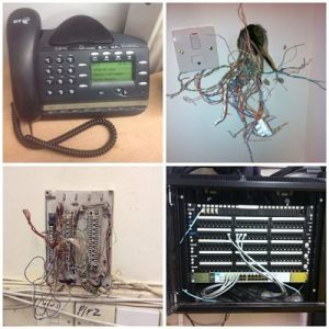 Mixed telephone engineer wiring from Southend jobs